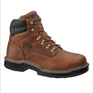 Wolverine Raider 6 Soft Toe Brown Leather Boot